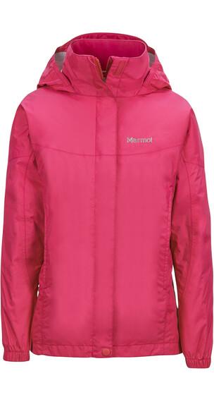 Marmot Girls PreCip Jacket Pink Rock